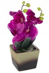 Композиция декоративная Темная орхидея