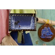 Женский клатч с принтом  Волшебная сказка