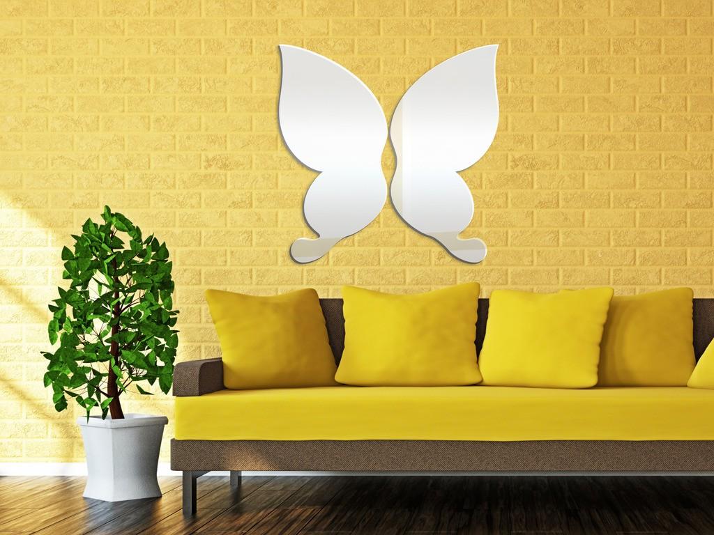 Декоративное акриловое зеркало «Бабочка»