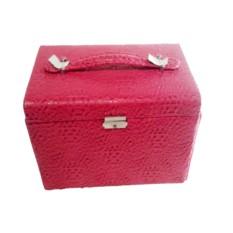 Розовая шкатулка-сундучок для украшений