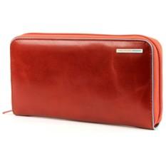 Женское оранжевое портмоне на молнии Piquadro Blue Square