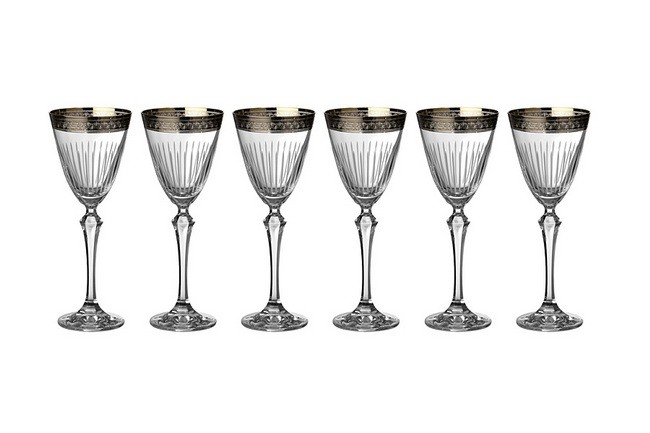 Набор из 6 бокалов для вина 190 мл Crystalex Элизабет