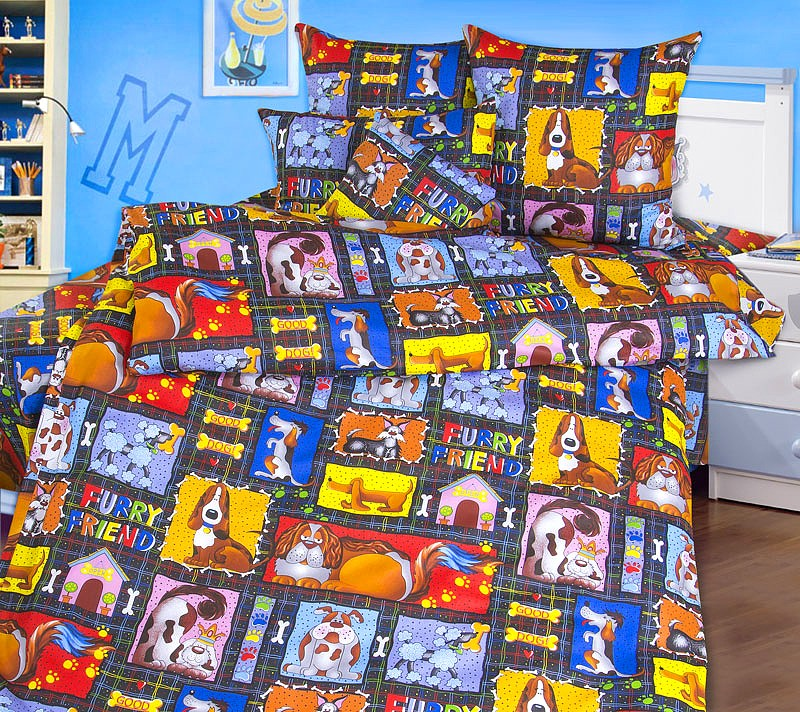Комплект постельного белья Пушистые друзья (ясельный)