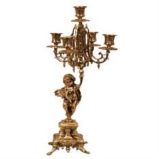 Пара канделябров из бронзы на 5 свечей Ангел