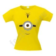 Женская футболка Миньон одноглазый