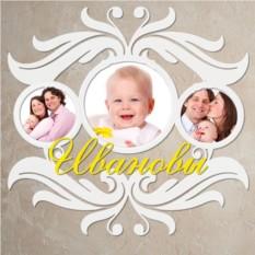 Фоторамка Семейная с фамилией