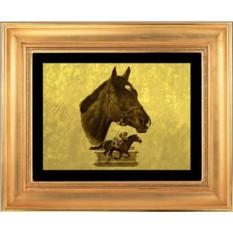 Гравюра из золота Лошадь