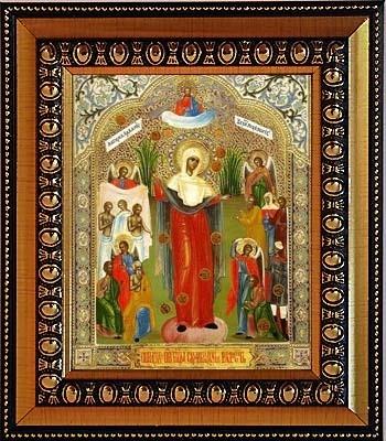 Икона Божьей Матери Всех скорбящих радость на холсте