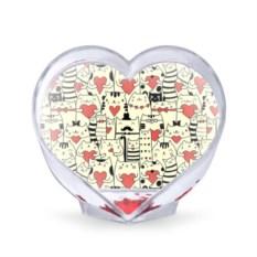Сувенир-сердце Любящие котики