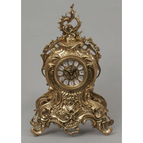 Часы настольные из бронзы Virtus  «С завитком»