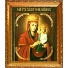 Икона Божьей Матери на холсте Споручница грешных