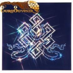 Хрустальная картина Волшебный узел, 555 кристаллов, 25х25 см