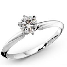 Помолвочное кольцо с муассанитом Diana (0,5 карата)