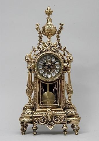 Бронзовые часы с маятником Олимпус