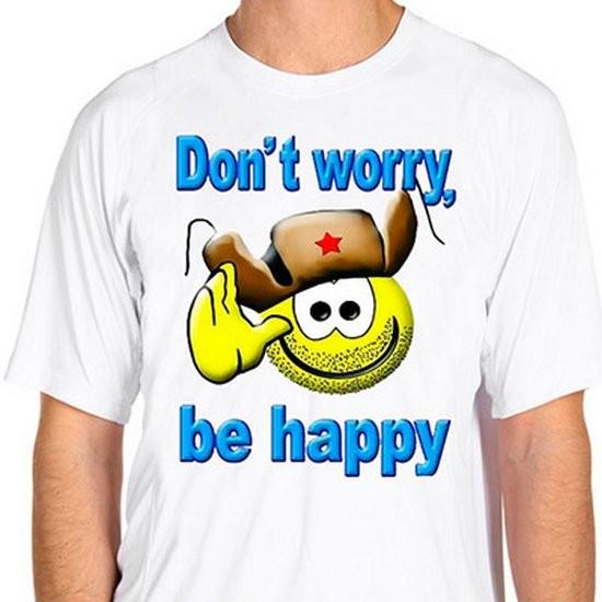 Футболка Dont worry be happy
