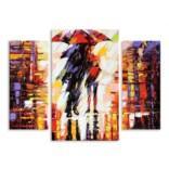 """Модульная картина """"Двое под зонтом"""" 90х69 см"""