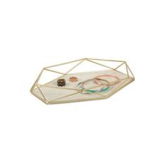 Органайзер-поднос для украшений Prisma (матовая латунь)