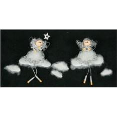 Новогодняя фигурка Ангелы на облаке (15 см)