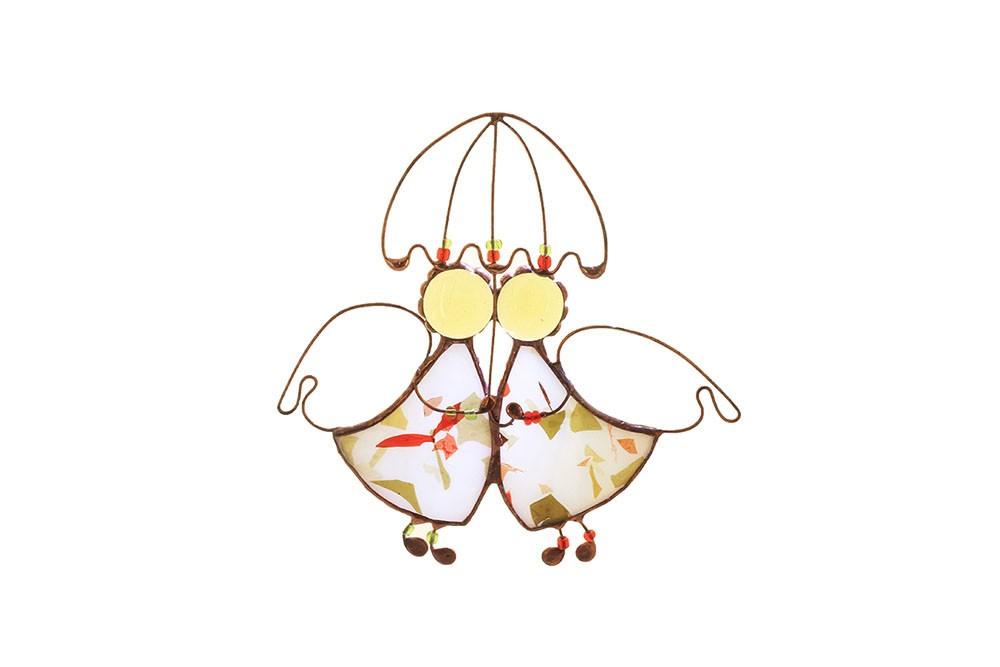 Интерьерная подвеска «Ангелы, танцующие под дождем»