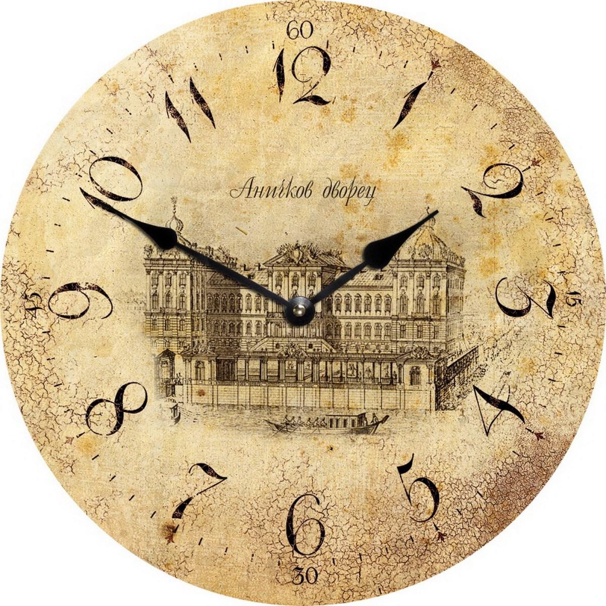 Античные круглые часы Санкт-Петербург. Аничков дворец