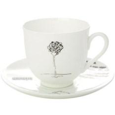 Кофейная чашка с блюдцем Роза (фарфор)
