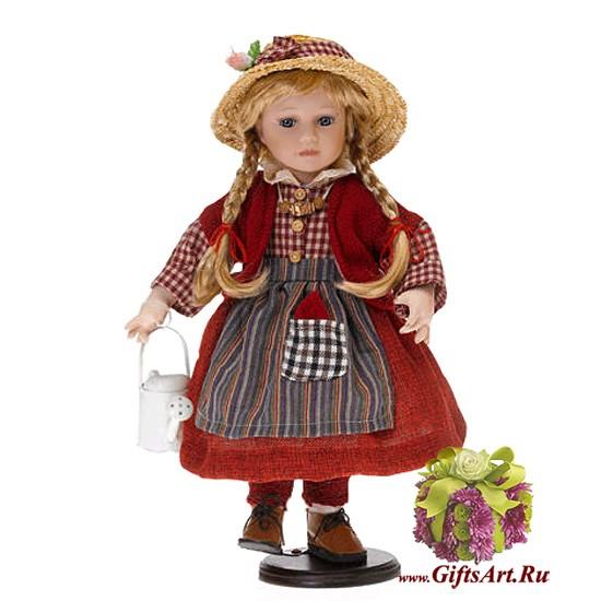 Немецкая фарфоровая кукла Малышка с лейкой RF-COLLECTION