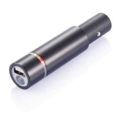 Автомобильное зарядное с аккумулятором 1400 мАч и фонариком