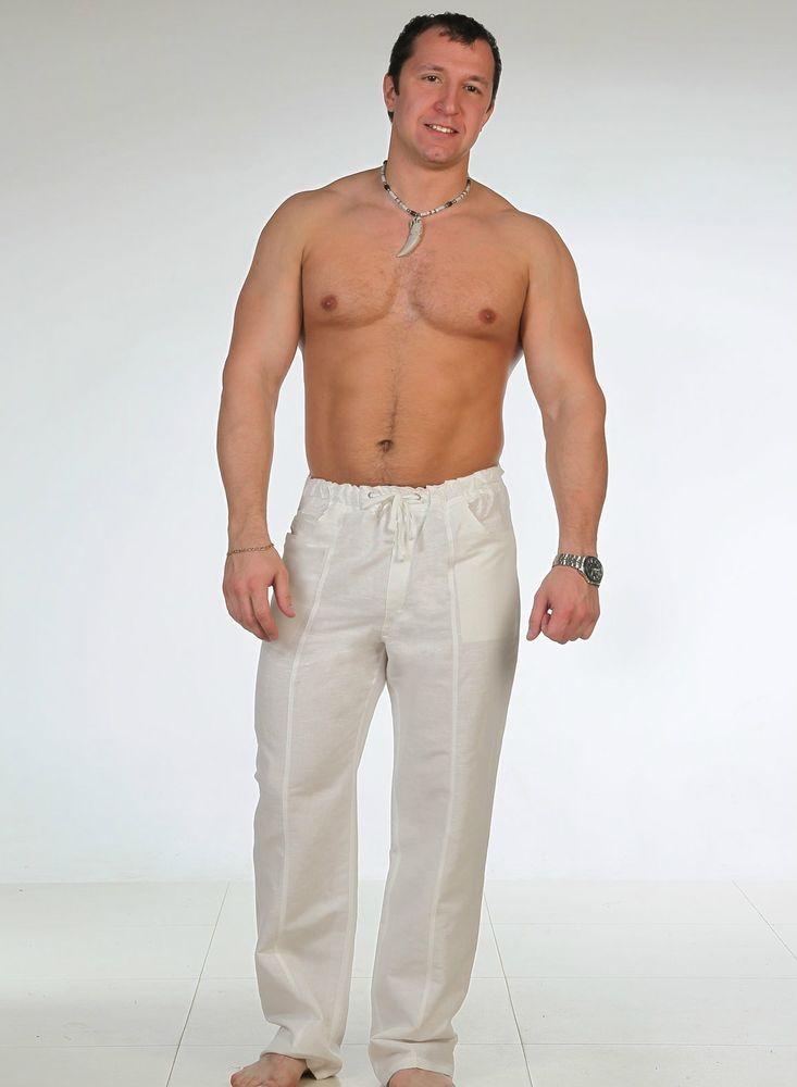 Мужские брюки из льна Спортсмен