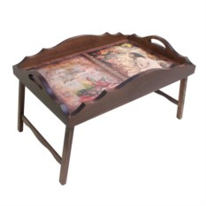 Столик для завтрака в постель с фигурным бортиком В мечтах