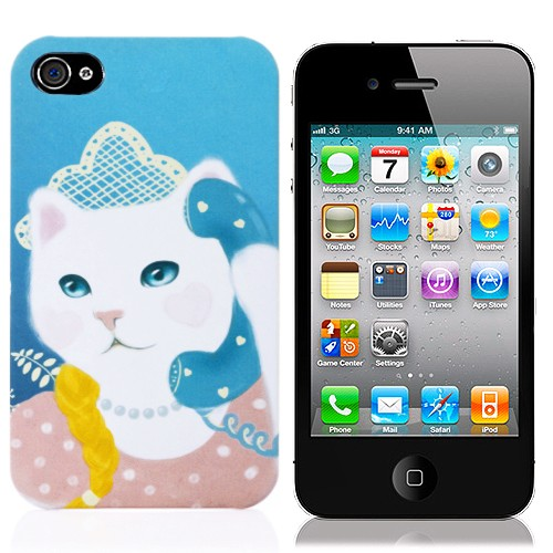 Чехол для iPhone 4,4s Cat phone
