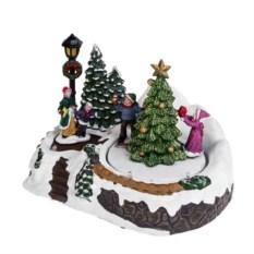 Новогоднее светящееся украшение Дети у елки