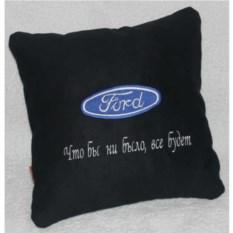 Черная с дополнительной надписью подушка Ford