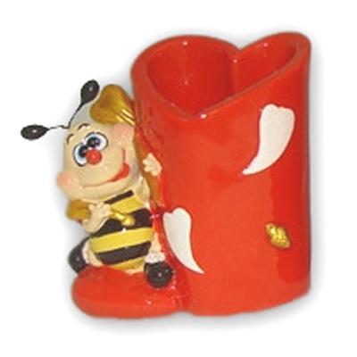 Карандашница валентинка пчелка
