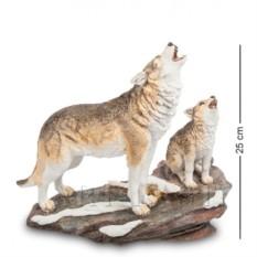 Статуэтка Волк с детенышем