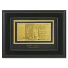 Картина с банкнотой 500 Euro в раме