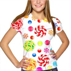 Женская футболка Карамелька