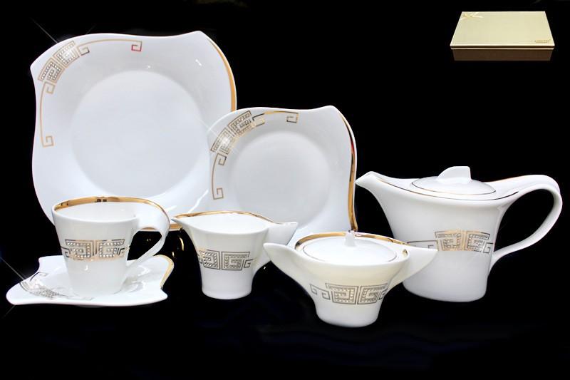Фарфоровый чайный сервиз Givаnchi gold 24 предмета