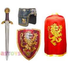 Карнавальный костюм рыцаря красного цвета