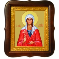 Лариса Готфская Святая мученица. Икона на холсте.
