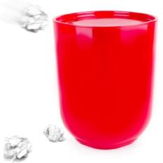 Красный контейнер для мусора с крышкой Step