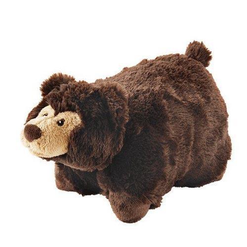 Плюшевая игрушка-подушка Бурый мишка коричневая