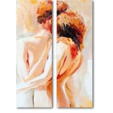 Модульная картина «Обнаженная пара» 55×77 см
