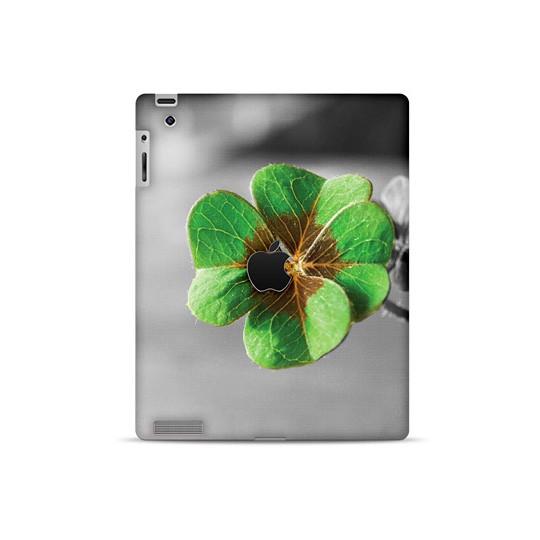 Кожаная наклейка для iPad 2, 3, 4 Clover
