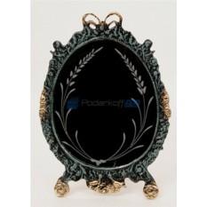 Зеркало из бронзы Валенсия, цвет синий с золотом