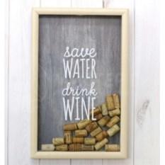 Копилка для винных пробок Save water and drink wine