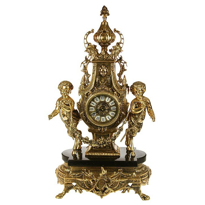 Часы каминные «Ангелочки», бронза