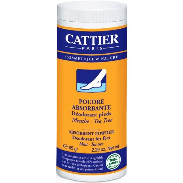 Пудра-дезодорант для ступней Cattier, 65 мл.