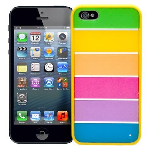 Пластиковый чехол для Iphone 5 Stripes on yellow