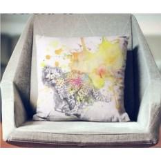 Декоративная наволочка Взрыв цвета: Быстрый гепард