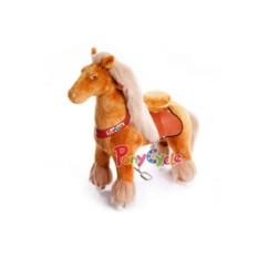 Малая детская механическая каталка Королевская лошадка